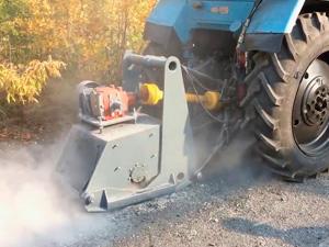 Аренда трактора с фрезой (барой)